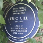 Eric Gill - Blue Plaque