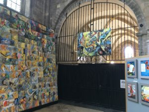 Frieda Hughes' Art in Cathedral